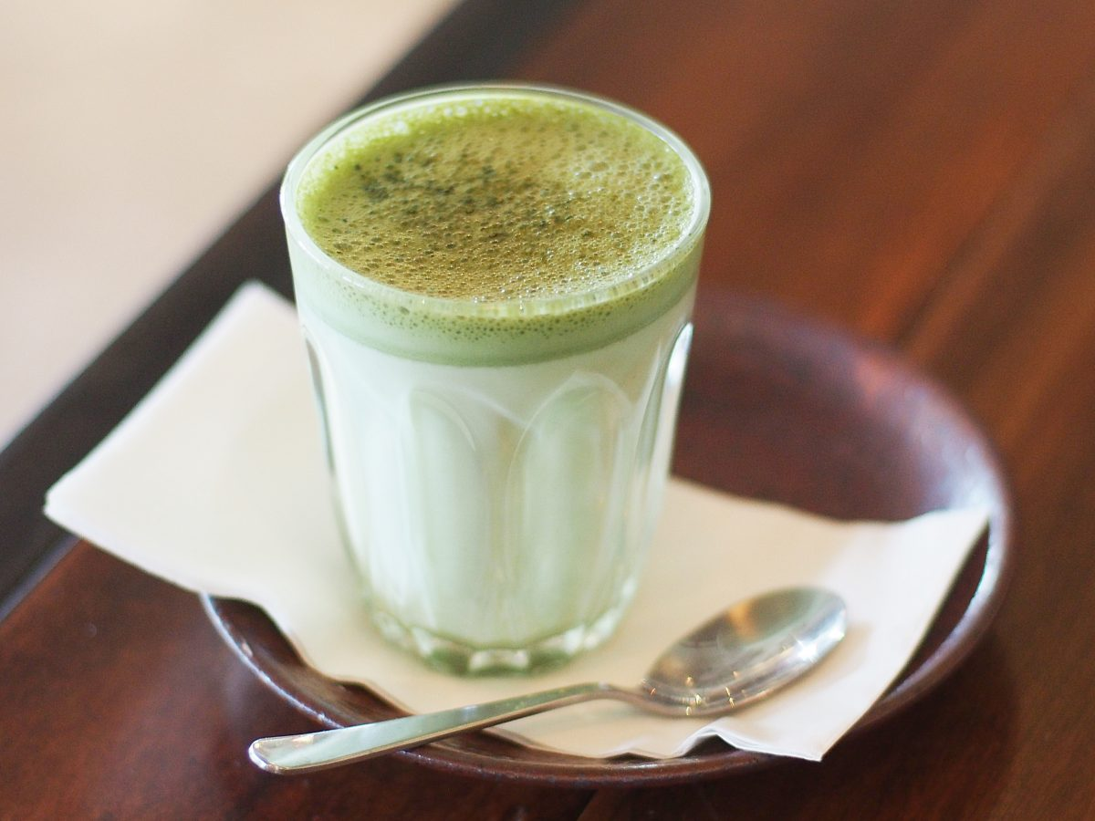 Matcha green tea as nutritionist recommended health tip