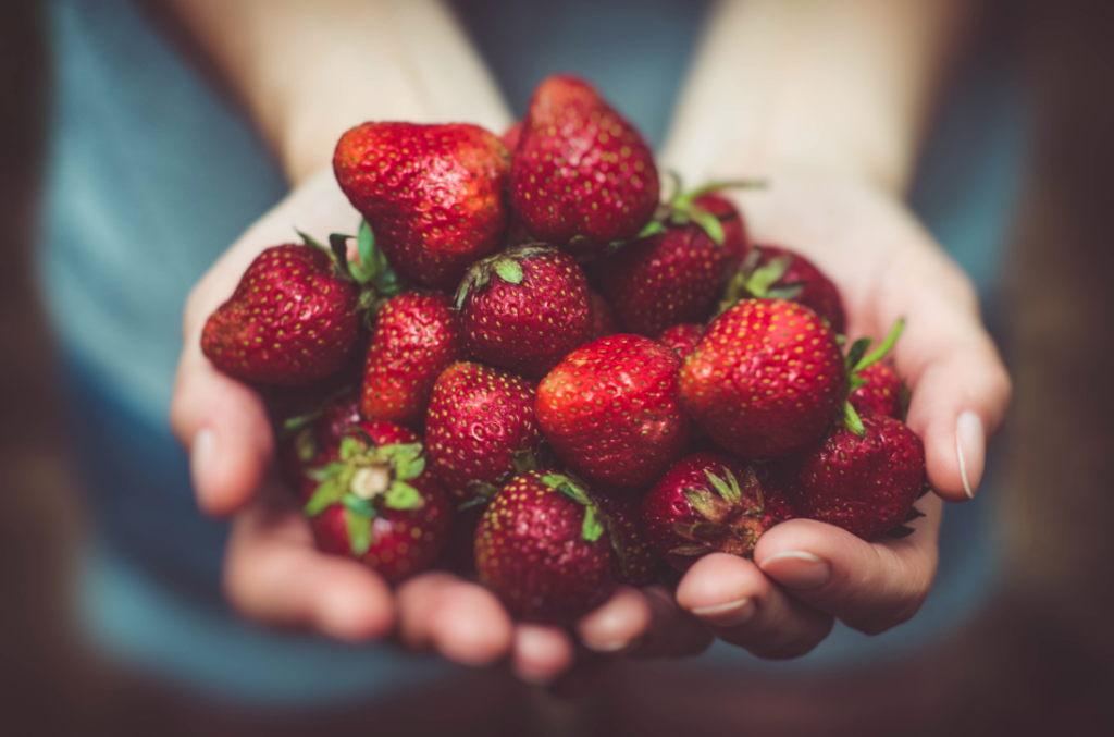 Strawberries as healthy nutritionist recommended snack